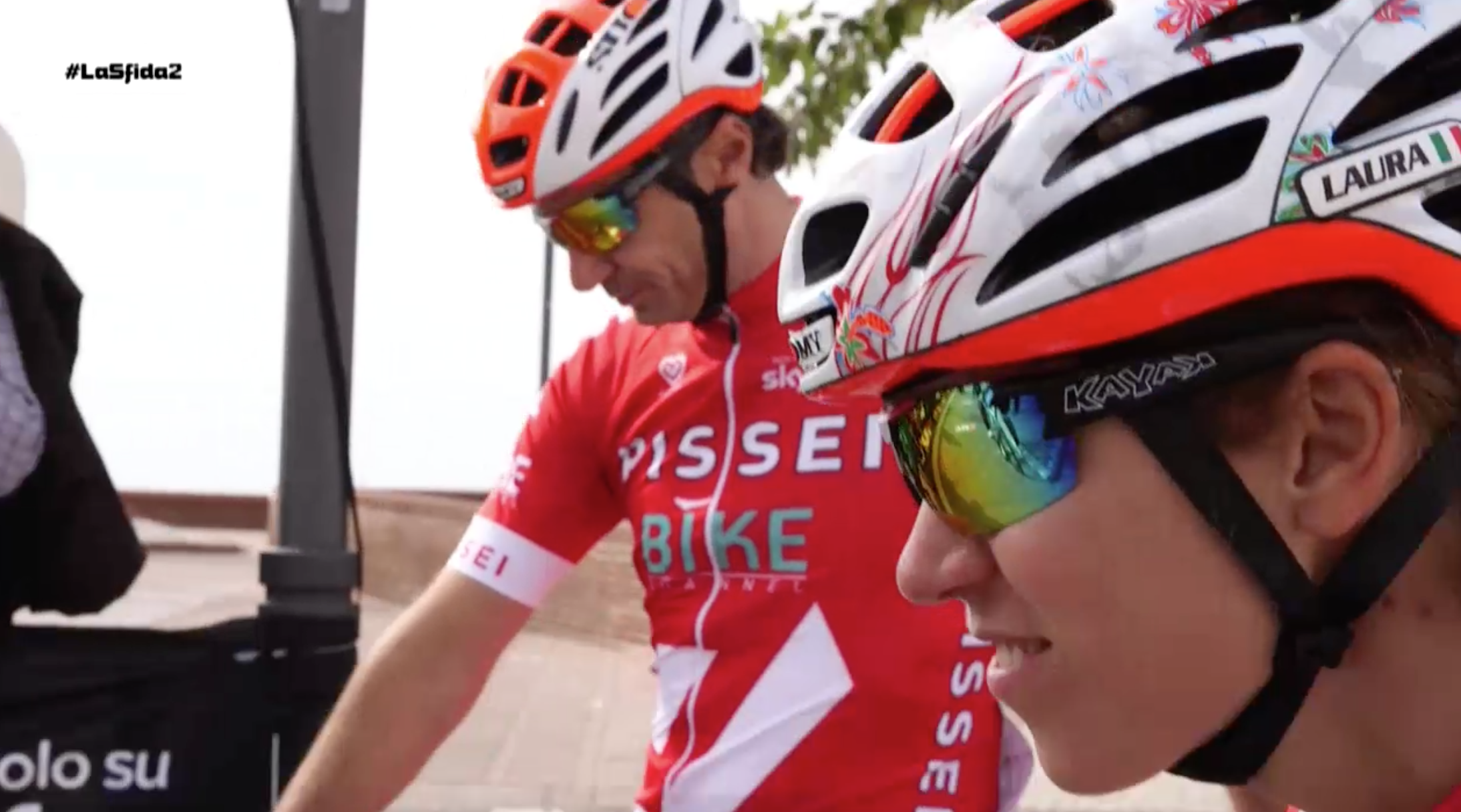 Gist cycling glasses protagonists of La Sfida, the cycling reality show on Bike Channel